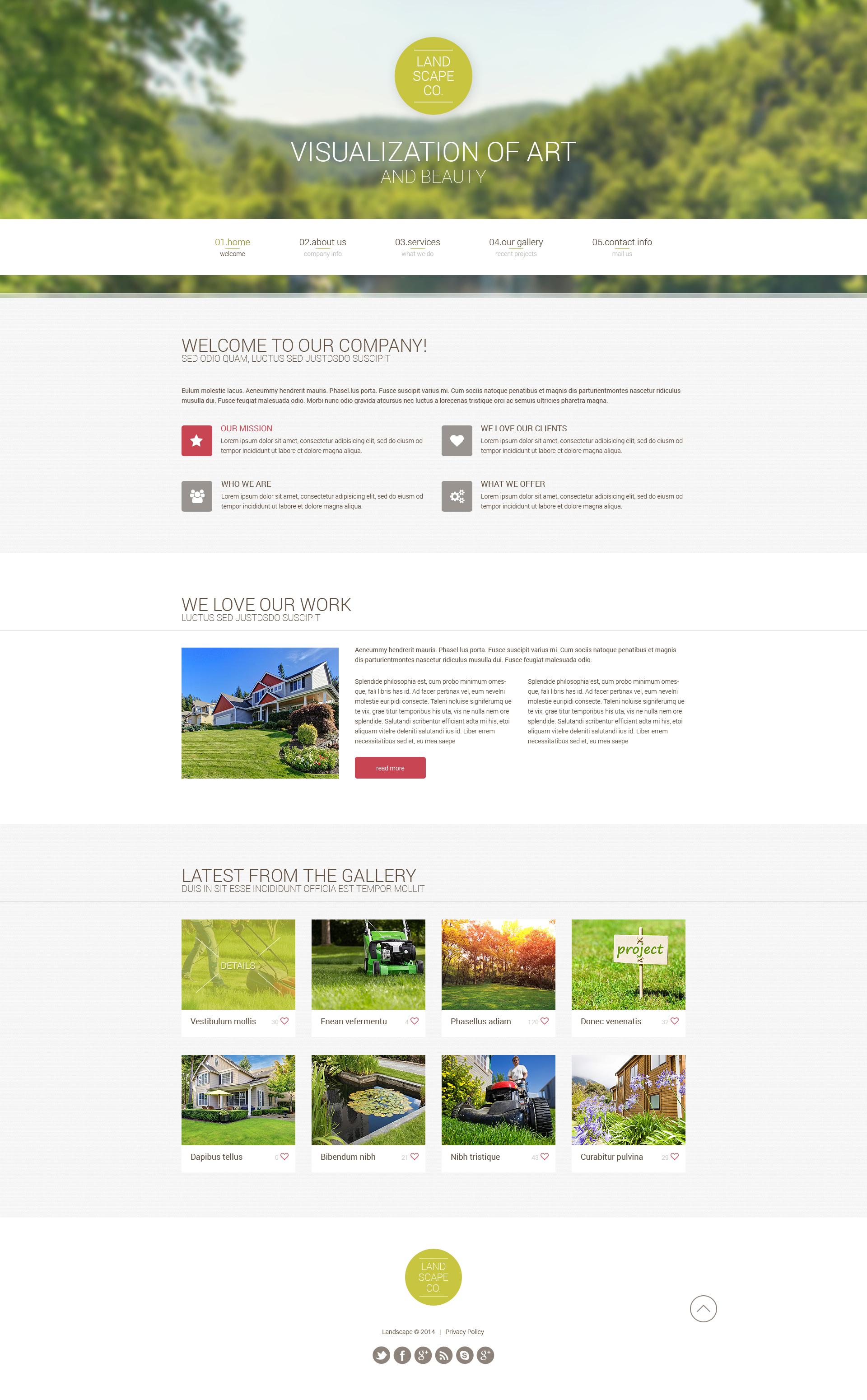 Plantilla Web #49668 para Sitio de Diseño de paisaje