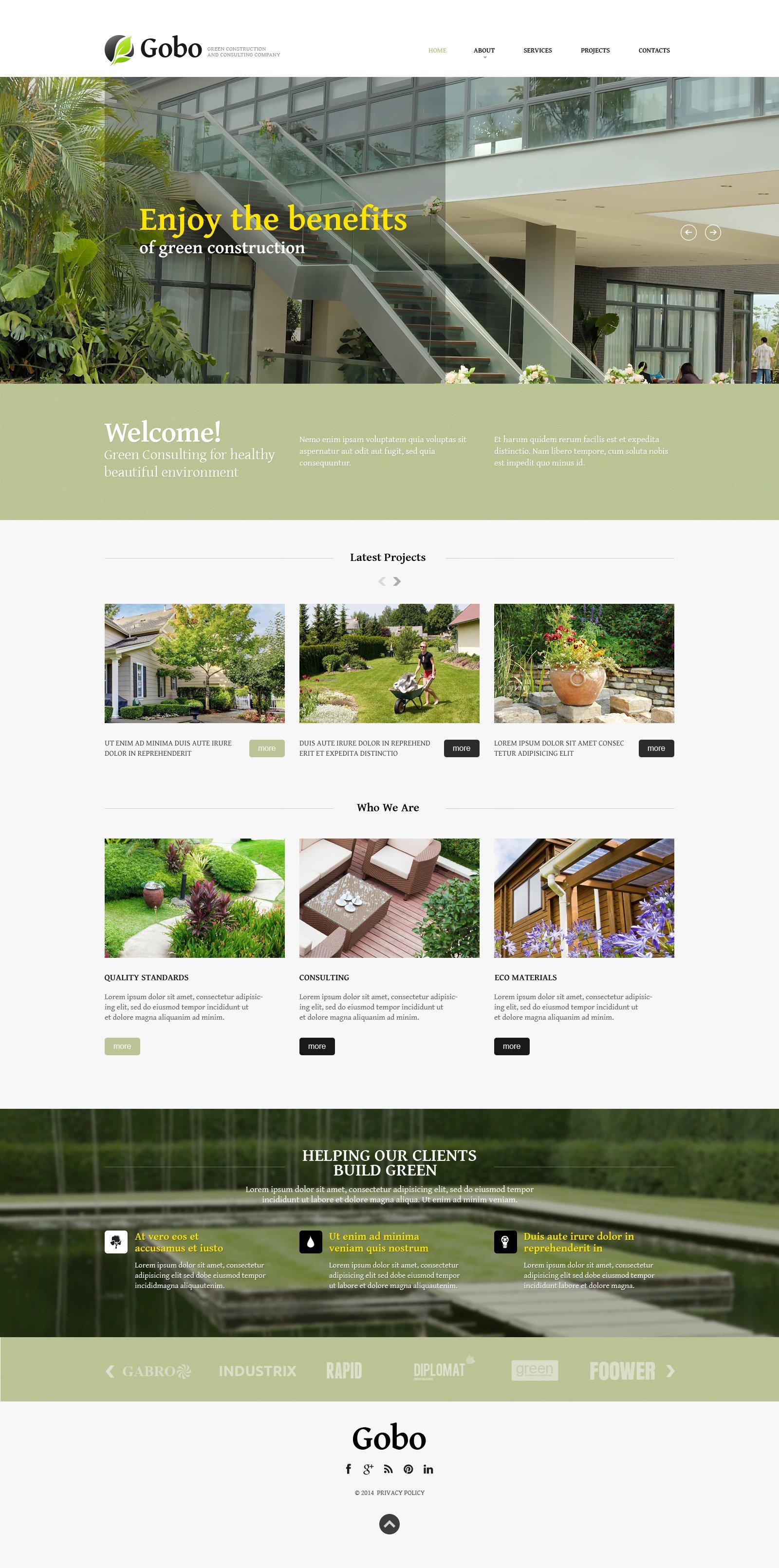 Plantilla Web Responsive para Sitio de Diseño de paisaje #49636