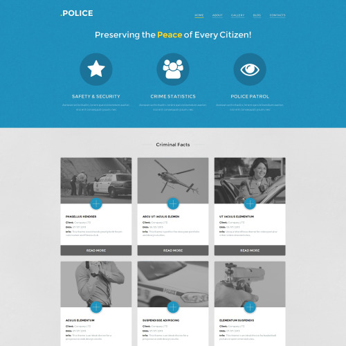 Police - WordPress Template based on Bootstrap