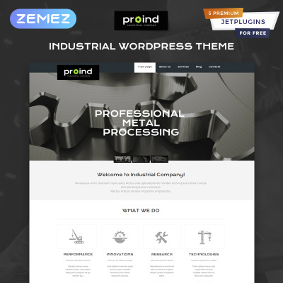42+ Best Industrial WordPress Themes 2019 | TemplateMonster