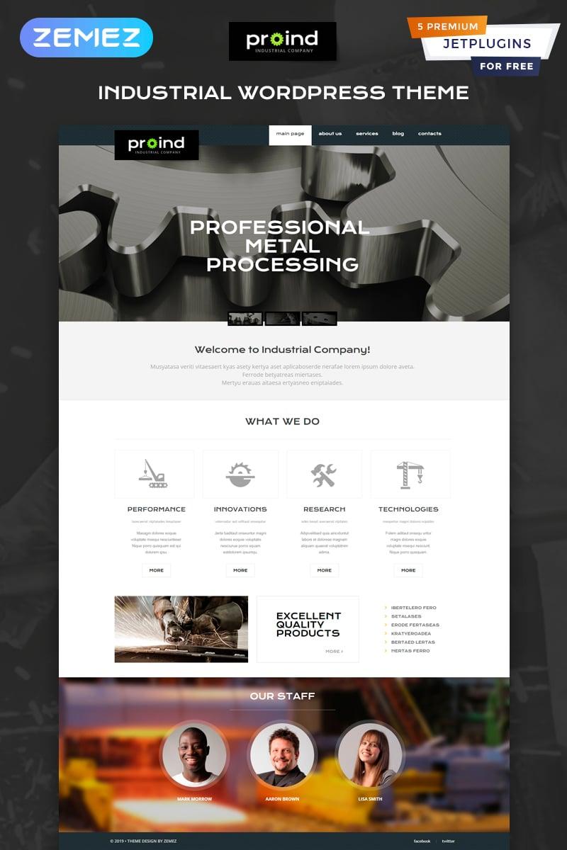 """Proind - Industrial Services Multipurpose Modern Elementor"" 响应式WordPress模板 #49645"