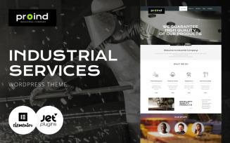 Proind - Industrial Services Multipurpose Modern WordPress Elementor Theme