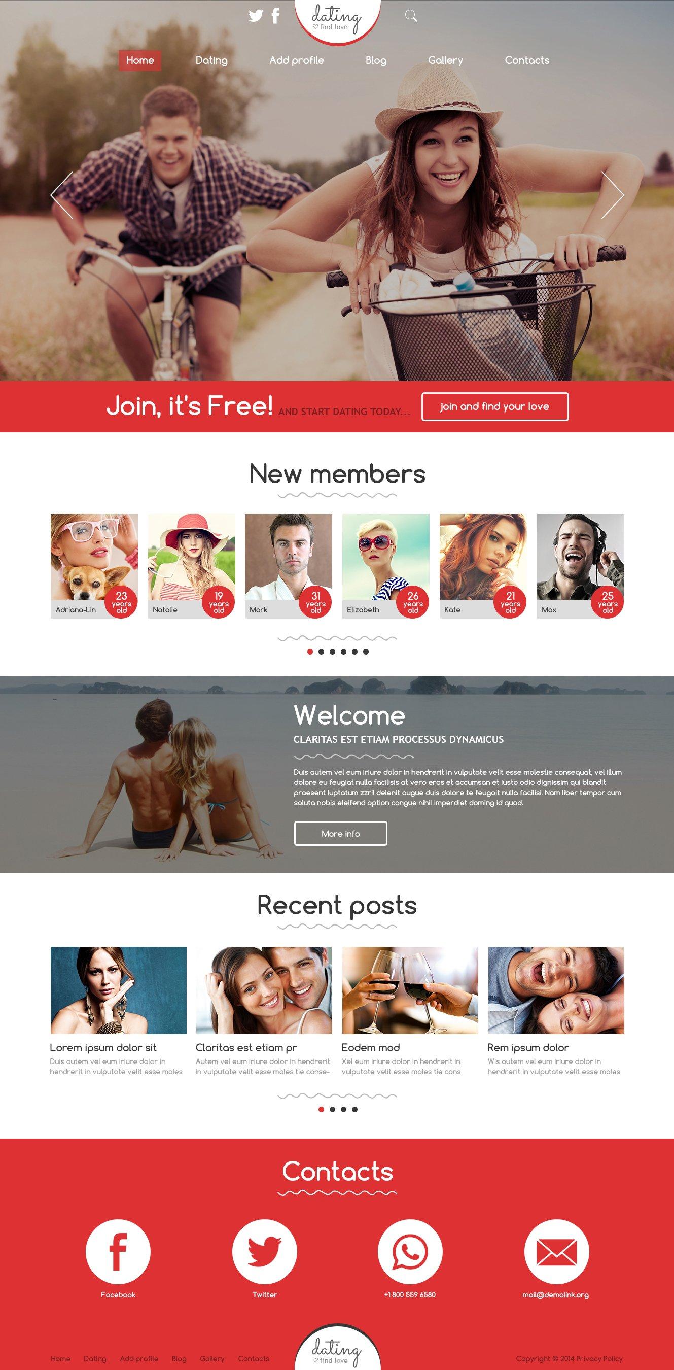 Responsive Joomla Template over Dating №49665 - screenshot