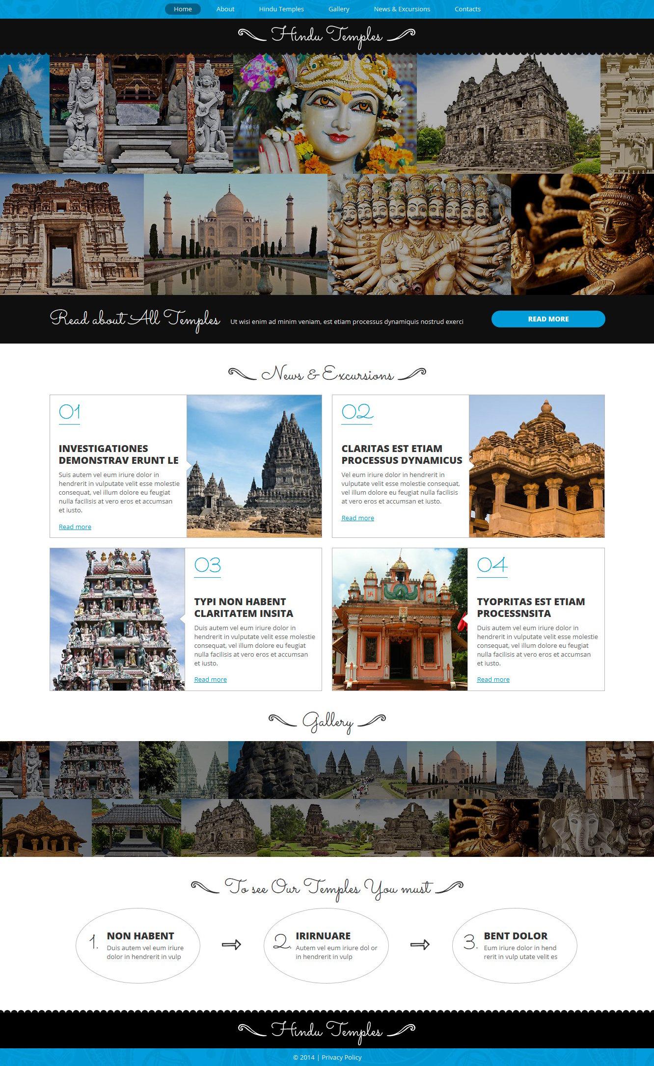 Responsive Joomla Vorlage für Hinduismus #49664