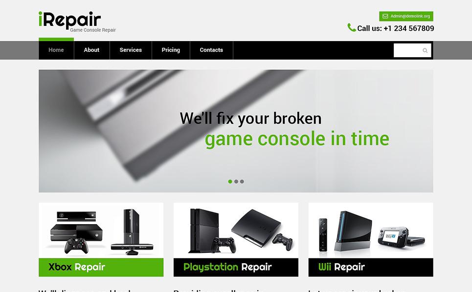 website vorlage 49670 f r computer reparatur. Black Bedroom Furniture Sets. Home Design Ideas