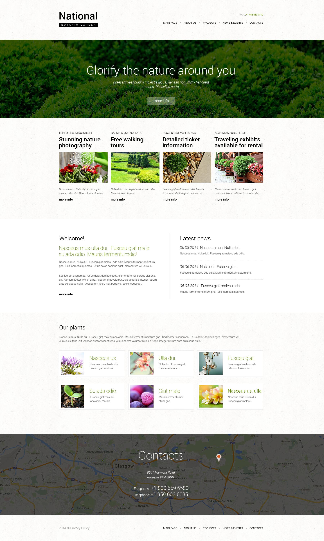Responsive Website Vorlage für Gartendesign #49666