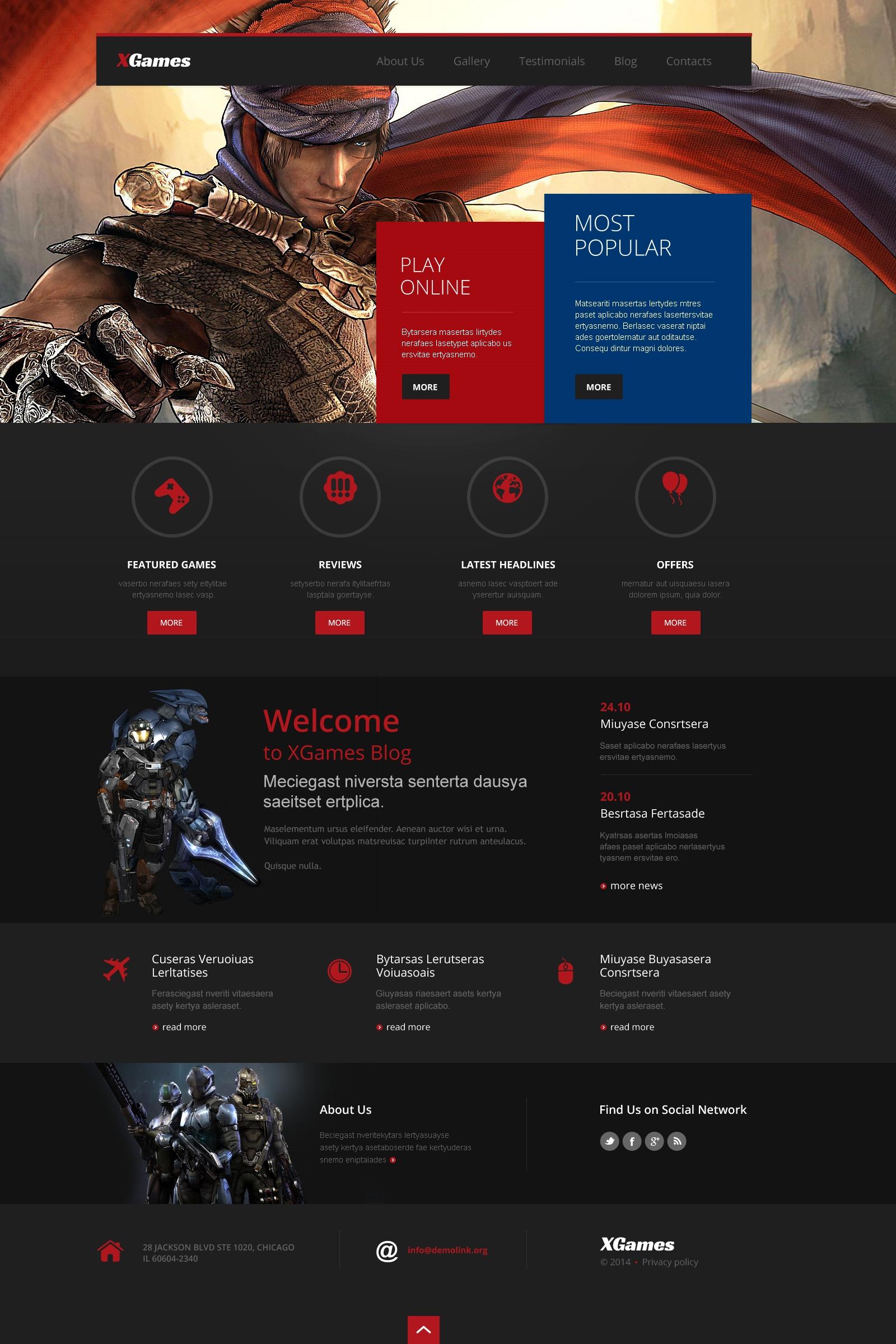 Responsive WordPress thema over Spelletjes №49627 - screenshot