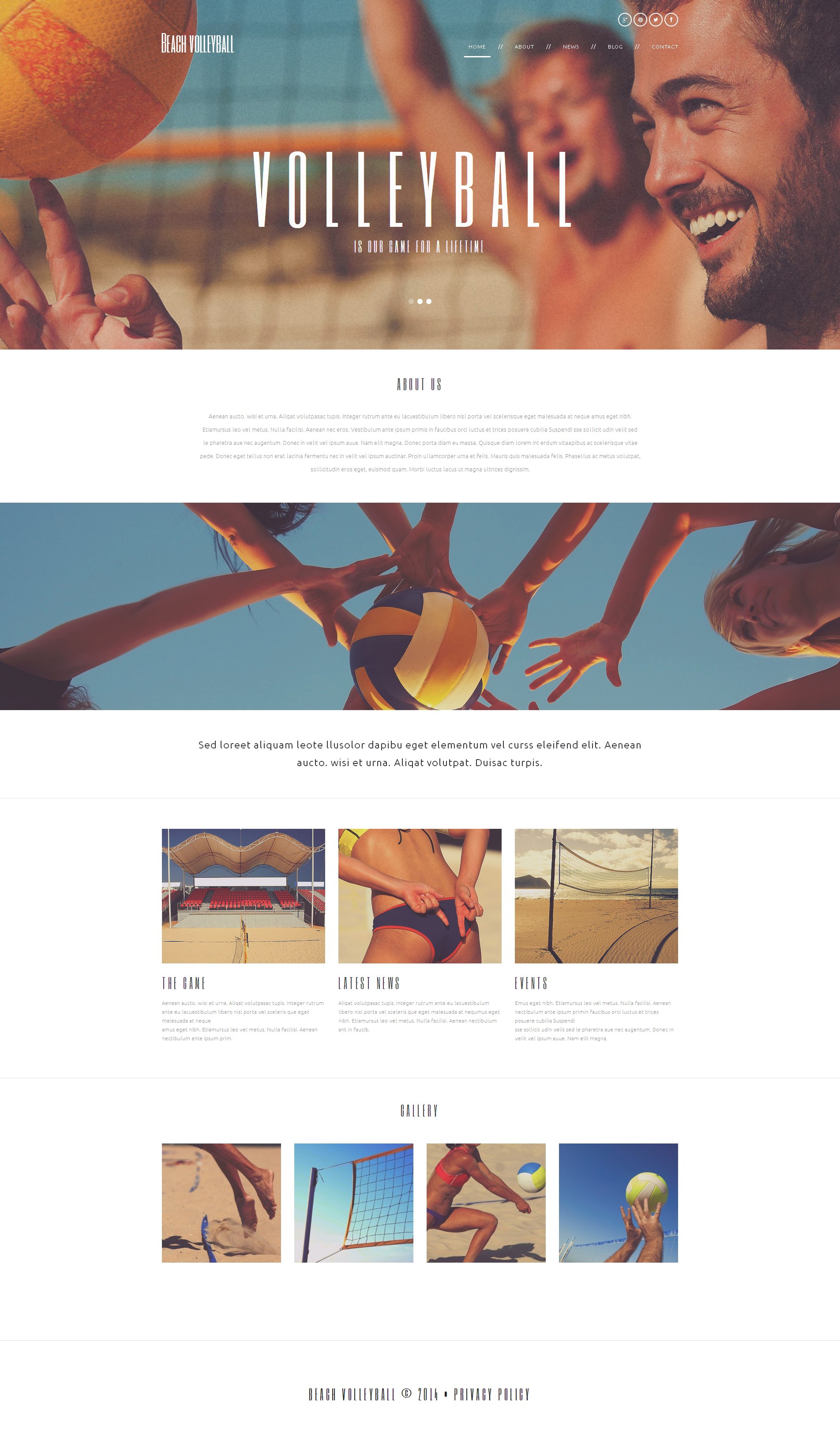 Responsivt Beach Volleyball Club WordPress-tema #49672