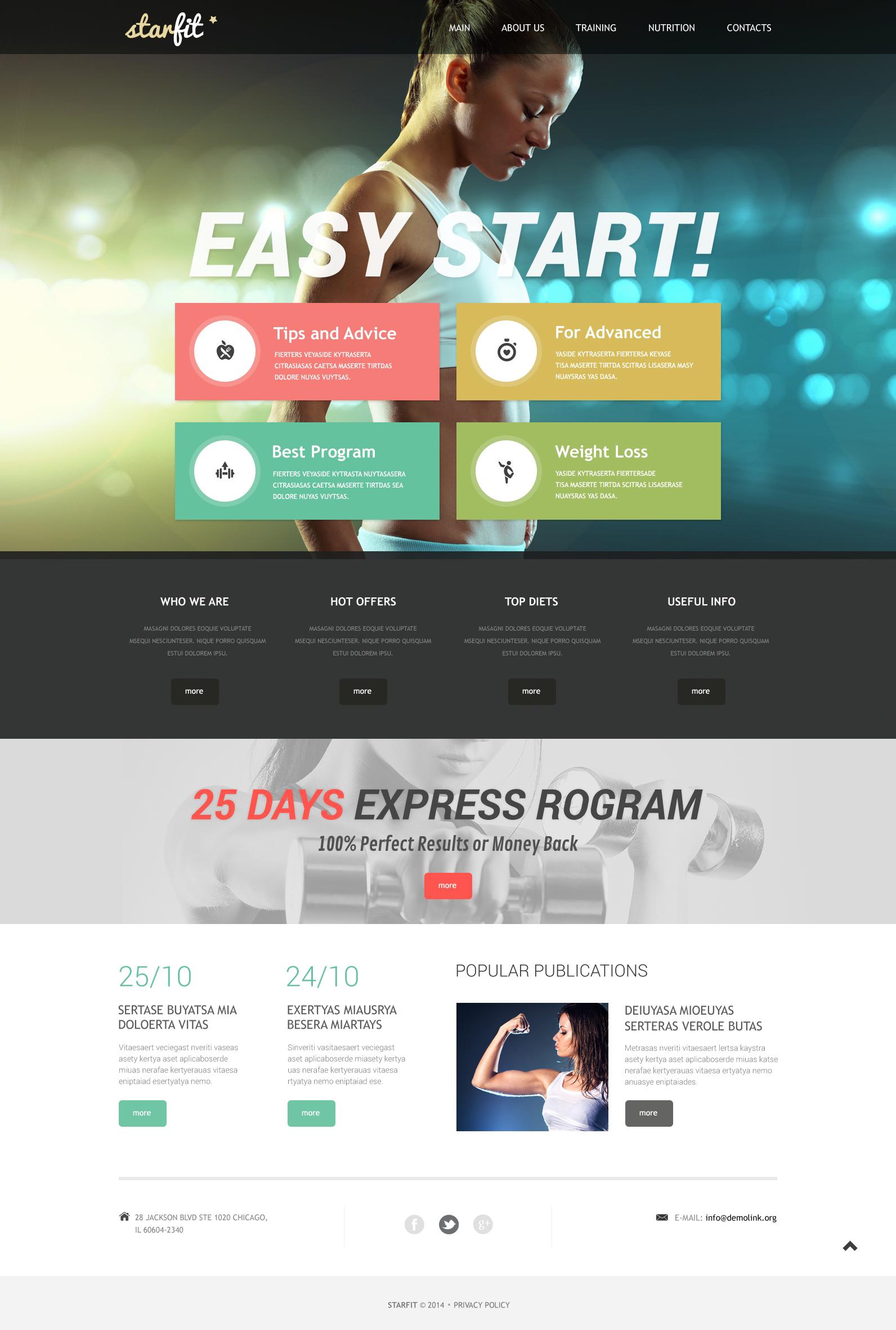 Responzivní Šablona webových stránek na téma Fitness #49639