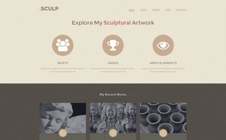 Sculpture Responsive WordPress Theme