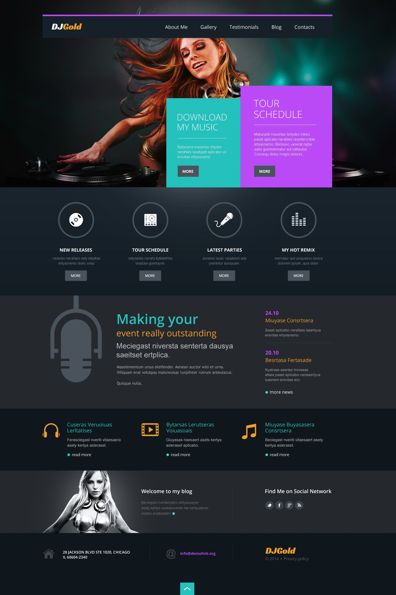 Singer Responsive WordPress Theme #49630