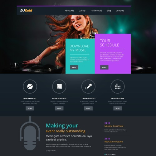 Dj Gold - WordPress Template based on Bootstrap