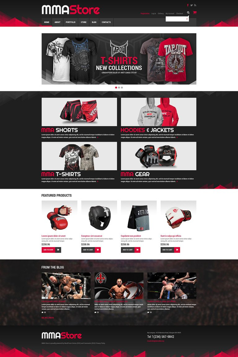 Sport Store WooCommerce Theme New Screenshots BIG