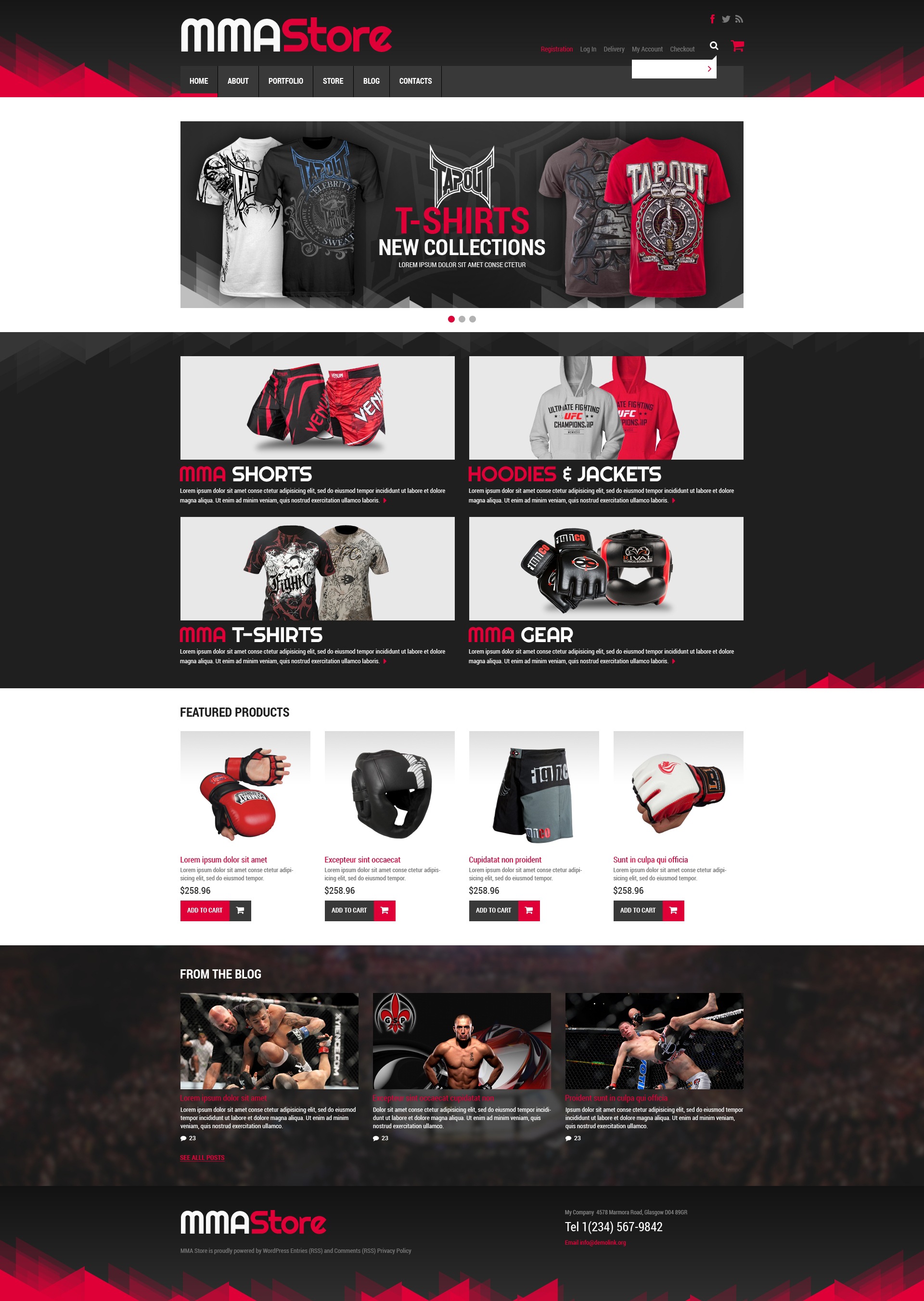 Sport Store WooCommerce Theme - screenshot