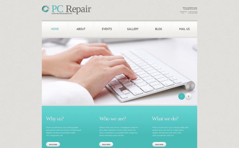 Tema de WordPress #49644 para Sitio de Reparación de computadoras