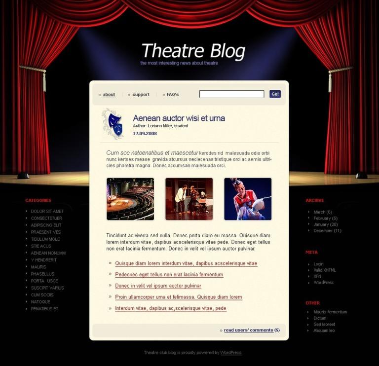 Theater PSD Template New Screenshots BIG