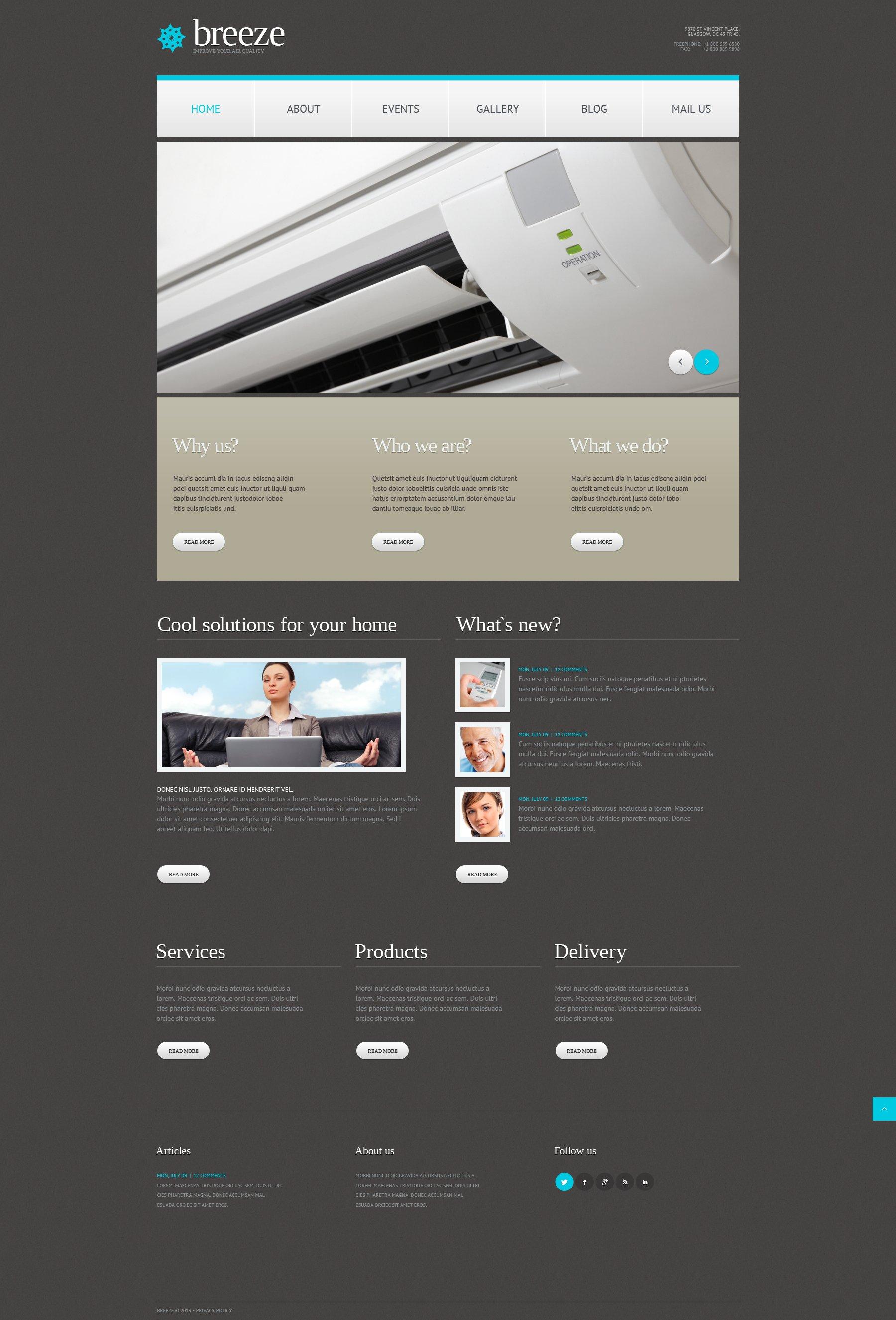 Thème WordPress adaptatif pour magasin de climatisation #49642