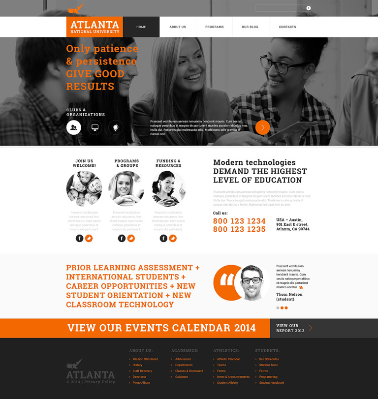 University Responsive Joomla Template New Screenshots BIG