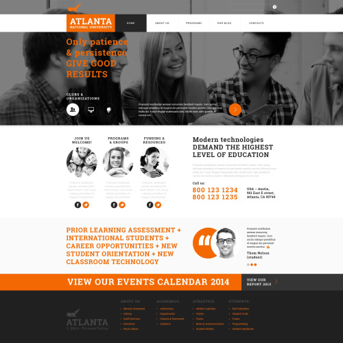 Atlanta  - Joomla! Template based on Bootstrap