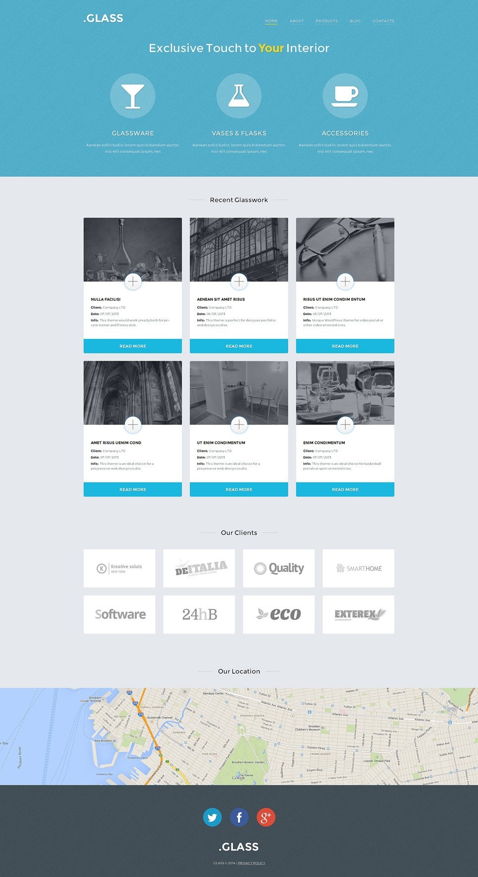 Windows & Doors Responsive WordPress Theme New Screenshots BIG