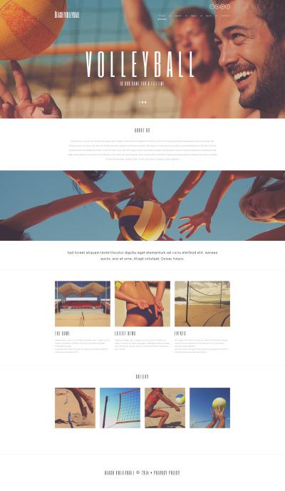 Адаптивный WordPress шаблон №49672 на тему волейбол