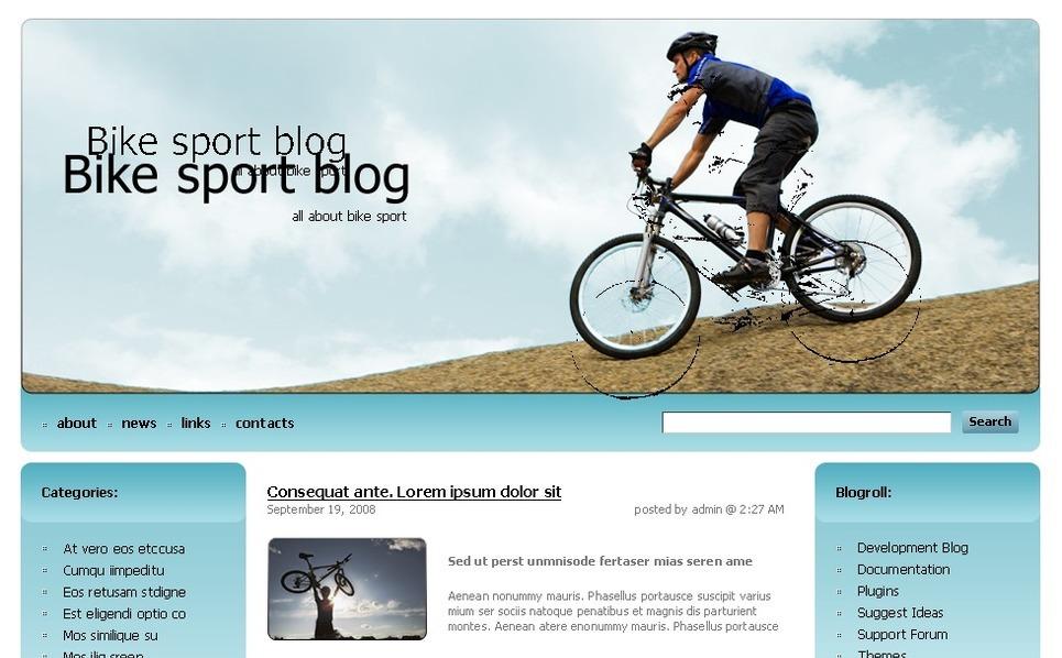 PSD шаблон №49704 на тему Шаблон велоспорт New Screenshots BIG