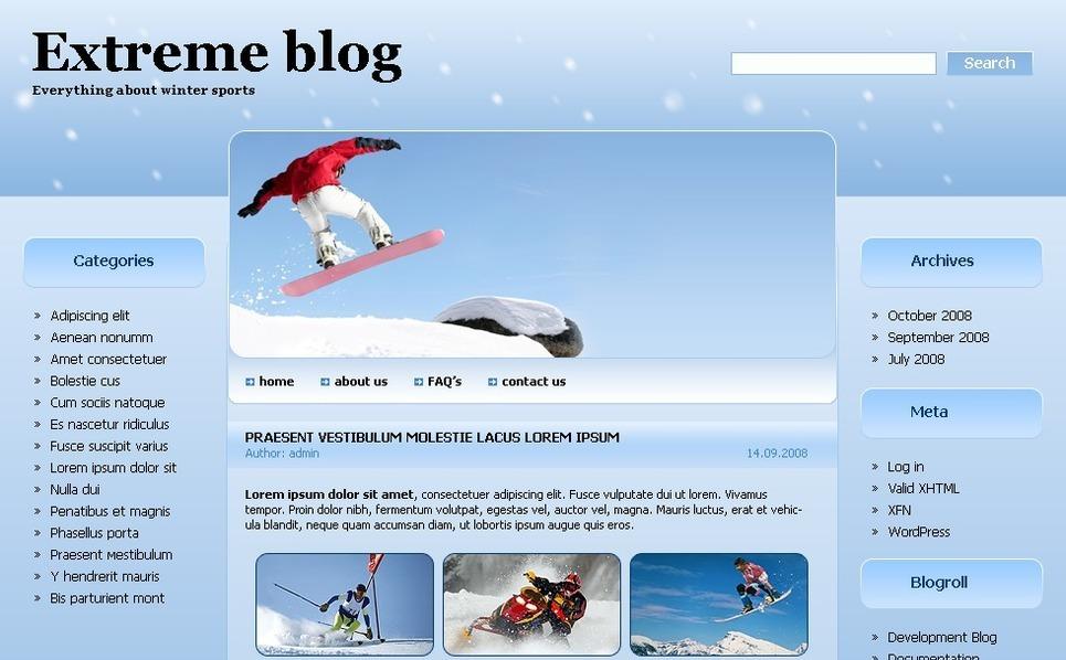 Template PSD  #49711 per Un Sito di Sport Estremi New Screenshots BIG