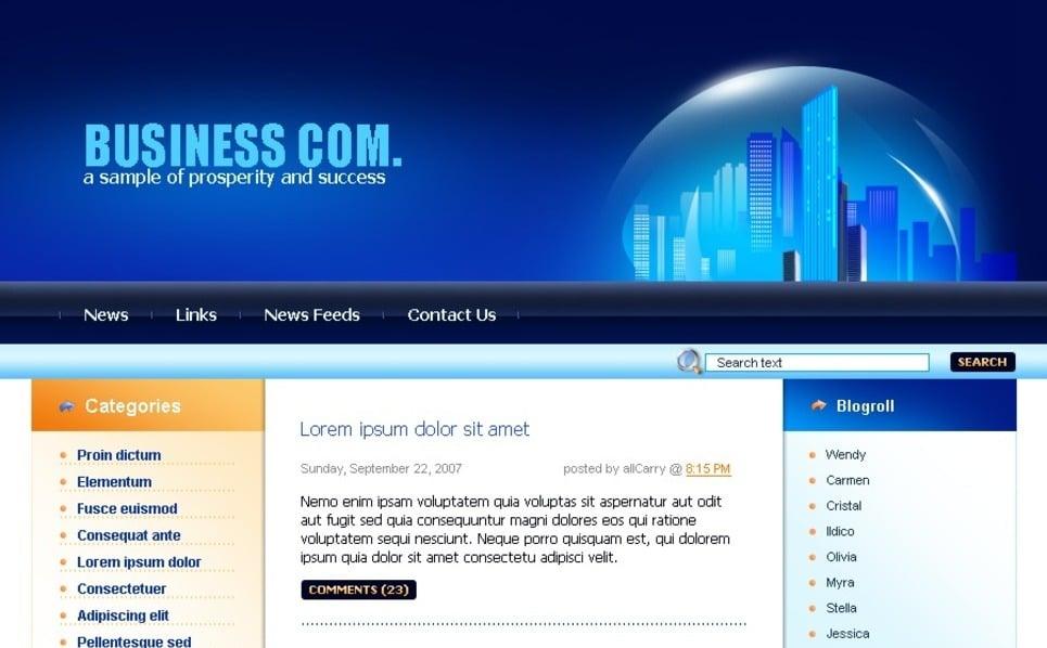 Plantilla PSD #49715 para Sitio de Negocio y Servicios New Screenshots BIG