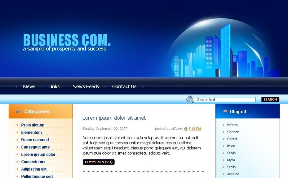 Szablon PSD #49715 na temat: biznes i usługi New Screenshots BIG