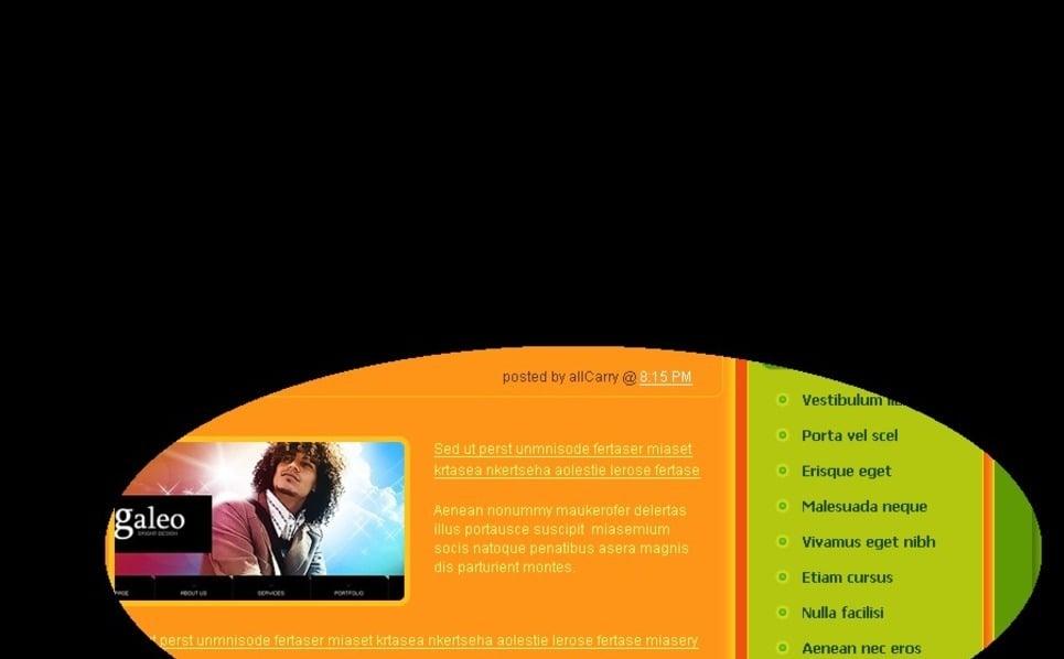 Tema PSD  #49716 per Un Sito di Pagine Personali New Screenshots BIG