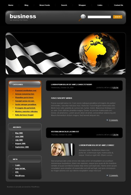 ADOBE Photoshop Template 49718 Home Page Screenshot
