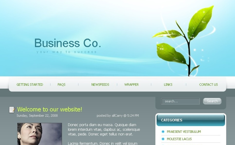 Szablon PSD #49721 na temat: biznes i usługi New Screenshots BIG