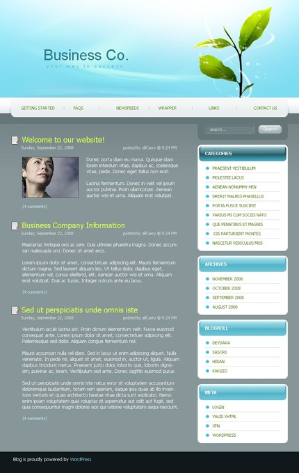 ADOBE Photoshop Template 49721 Home Page Screenshot