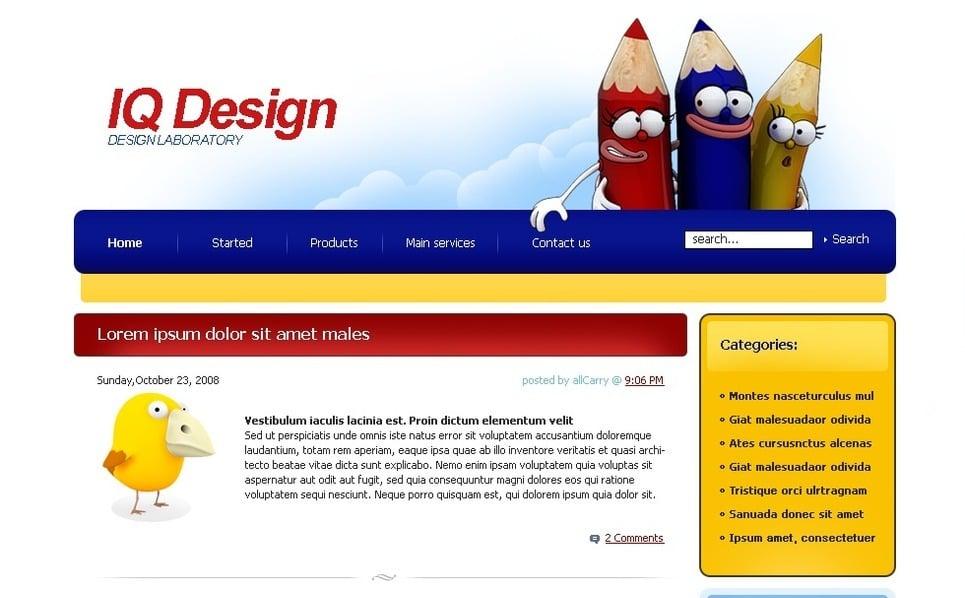 PSD шаблон №49723 на тему  студии дизайна New Screenshots BIG