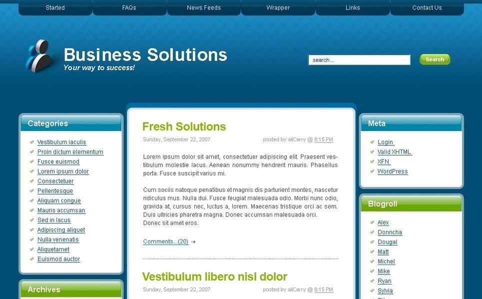 Template Photoshop  para Sites de Negócios e Prestadores de Serviços  №49726 New Screenshots BIG