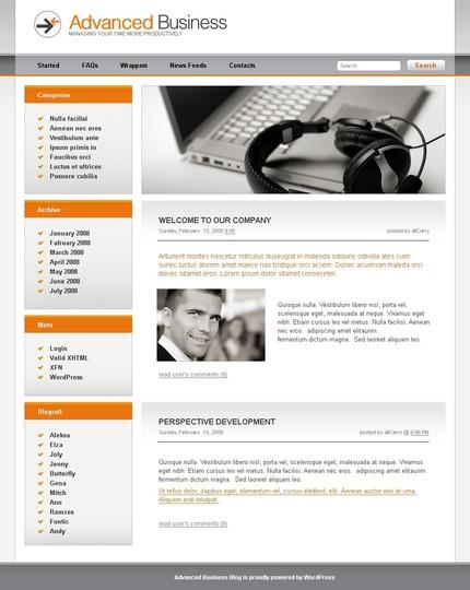ADOBE Photoshop Template 49729 Home Page Screenshot