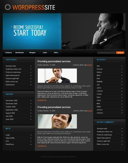 ADOBE Photoshop Template 49732 Home Page Screenshot