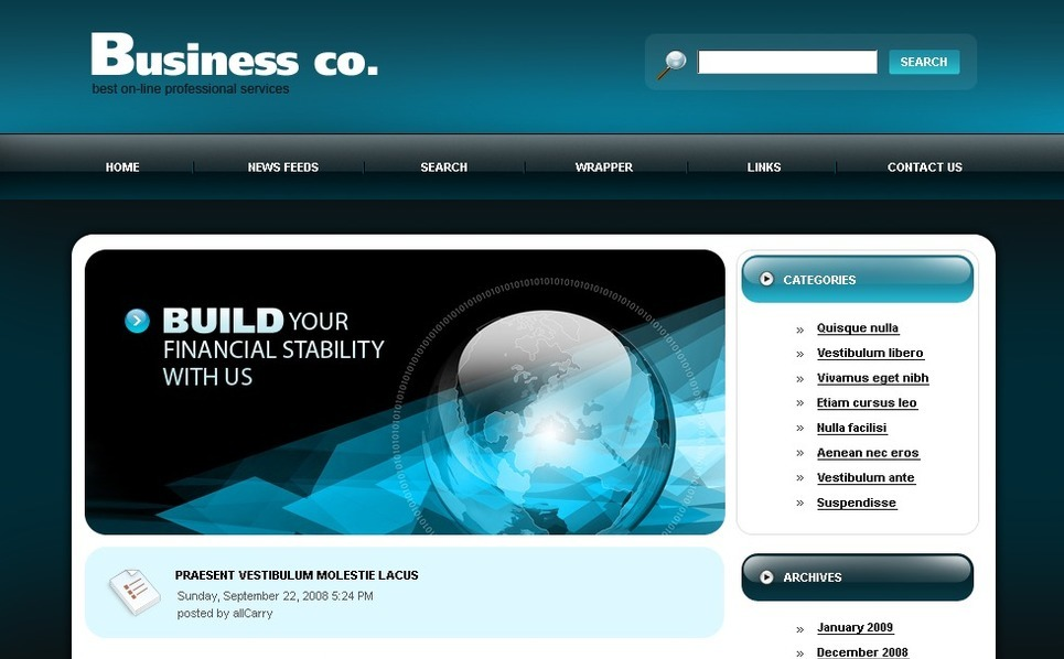 Template PSD  #49738 per Un Sito di Business e Servizi New Screenshots BIG