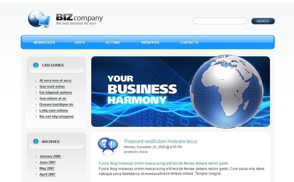 Template Photoshop  para Sites de Business & Services №49739 New Screenshots BIG