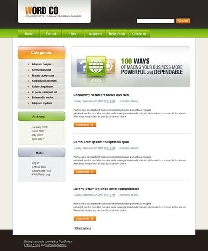 ADOBE Photoshop Template 49744 Home Page Screenshot