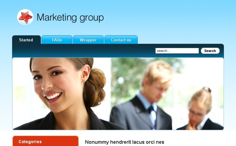 Plantilla PSD #49760 para Sitio de Agencia de marketing New Screenshots BIG
