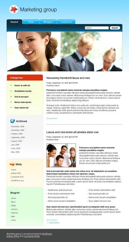 ADOBE Photoshop Template 49760 Home Page Screenshot