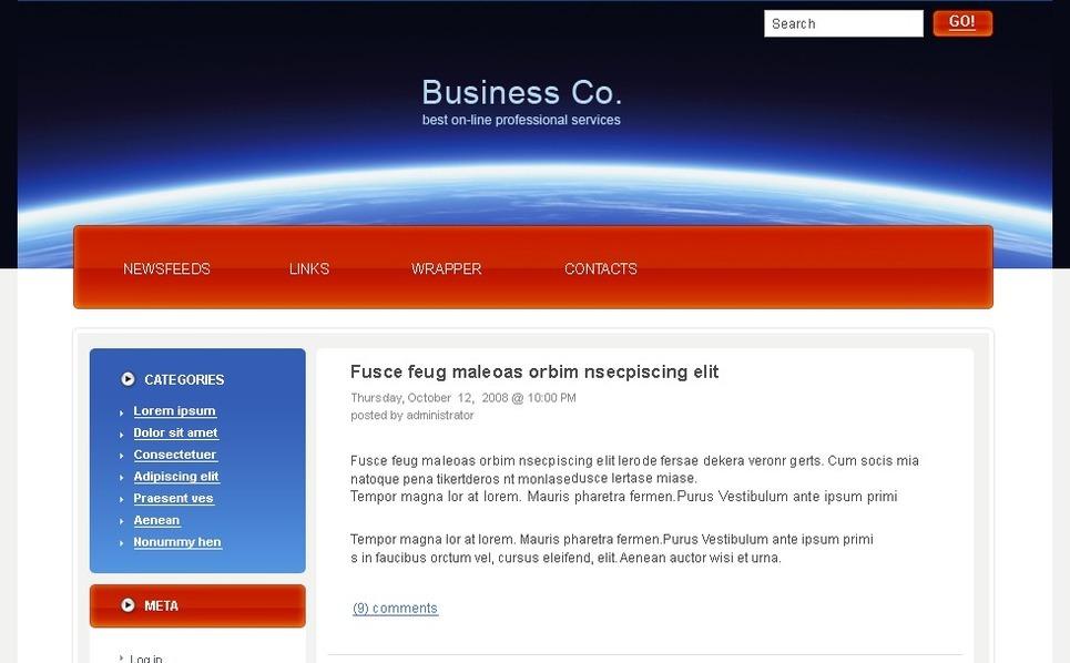 PSD шаблон №49762 на тему Бизнес и услуги New Screenshots BIG