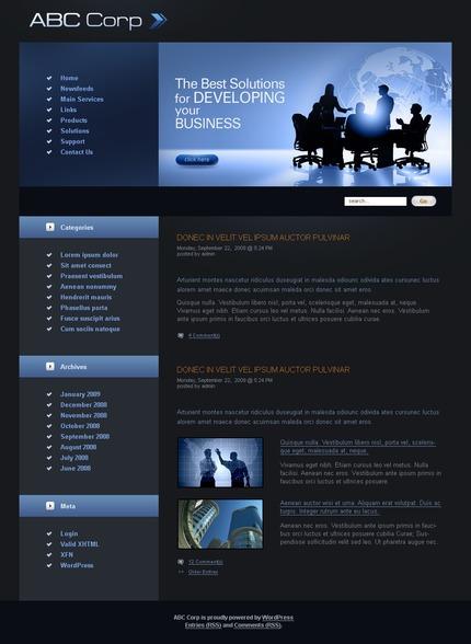 ADOBE Photoshop Template 49767 Home Page Screenshot