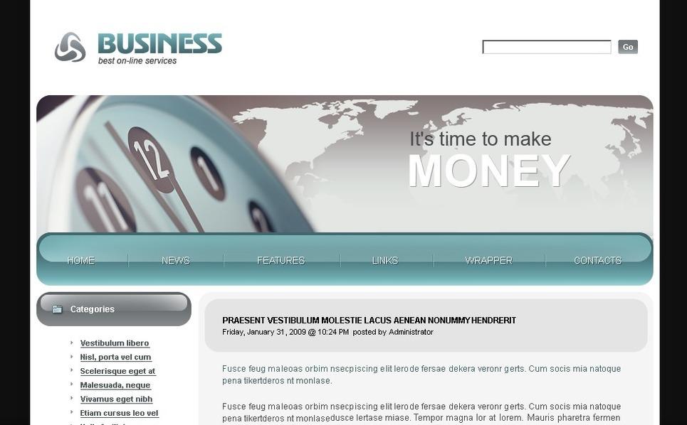 Plantilla PSD #49769 para Sitio de Negocio y Servicios New Screenshots BIG