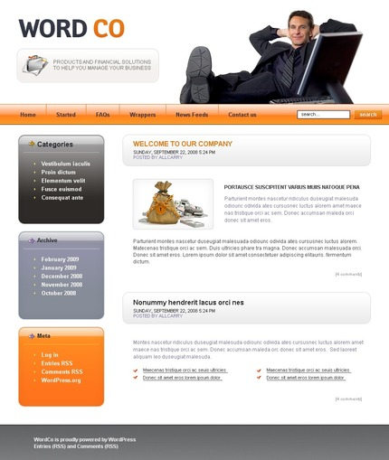 ADOBE Photoshop Template 49771 Home Page Screenshot