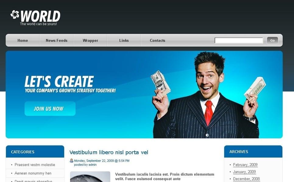 PSD шаблон №49772 на тему Бизнес и услуги New Screenshots BIG