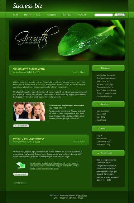 ADOBE Photoshop Template 49774 Home Page Screenshot