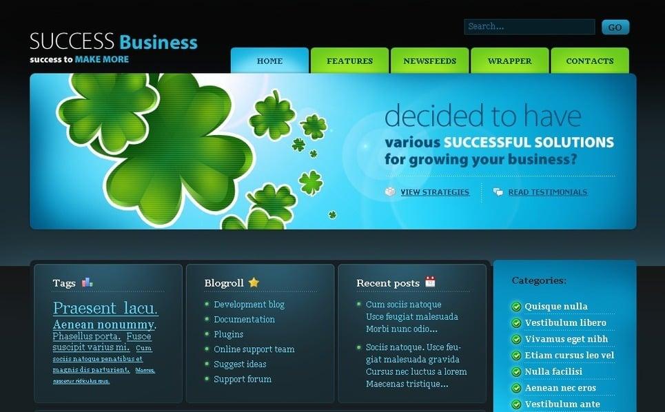 PSD шаблон №49781 на тему Бизнес и услуги New Screenshots BIG
