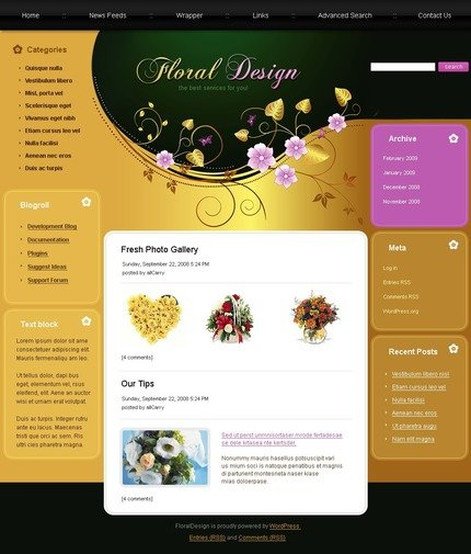 ADOBE Photoshop Template 49782 Home Page Screenshot